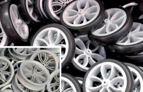 stampaggio eva ruote carrelli